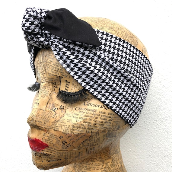 Dogtooth  Headscarf Rockabilly Pinup 1950's Inspired
