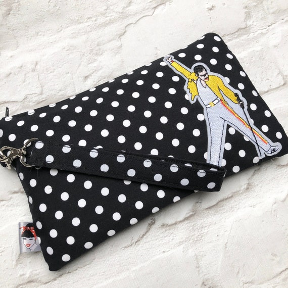 Freddie Mercury Inspired Clutch Bag Rockabilly Pinup