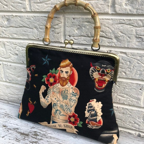 Alexander Henry Tattoo Sailor Jerry Handbag Rockabilly Pinup 1950's inspired