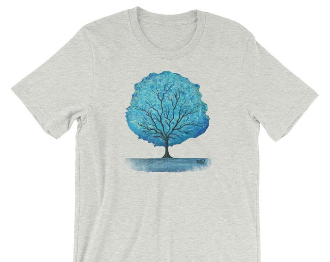 Blue Magic Tree Short-Sleeve Unisex T-Shirt Designed By Rafi Perez