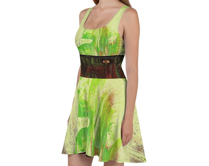 Abstract Create Painting Skater Dress Design By Rafi Perez