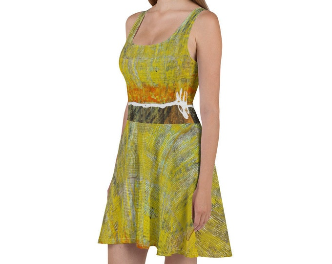 Abstract Art Skater Dress Design By Rafi Perez