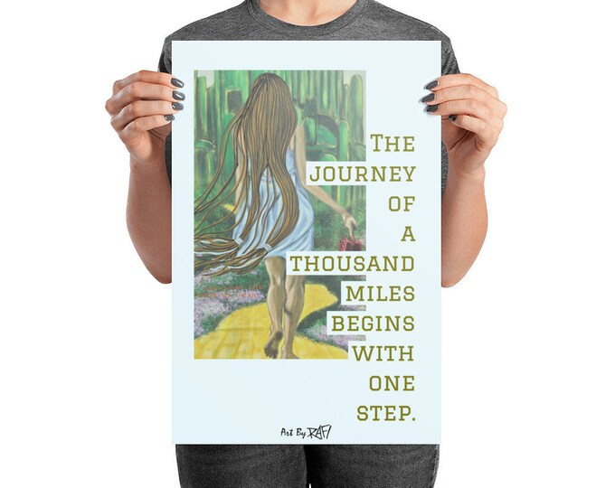 It Begins With A Step Art Poster Design By Rafi Perez
