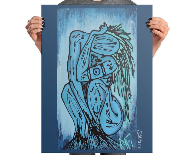 Water Elemental Photo Art Poster Design By Rafi Perez