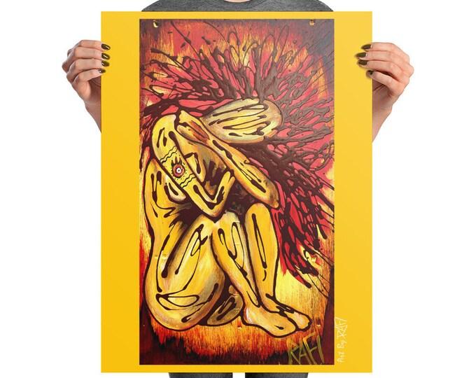 Fire Elemental Photo Art Poster Design By Rafi Perez