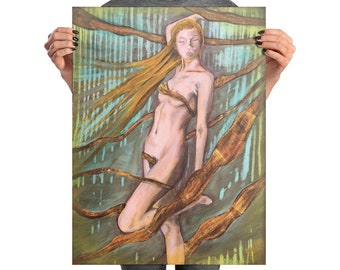 Wrapped In Gold Photo paper poster Designed By Artist Rafi Perez