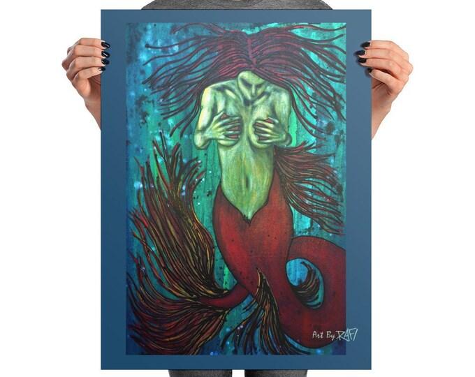 Dark Siren Photo Art Poster Design By Rafi Perez