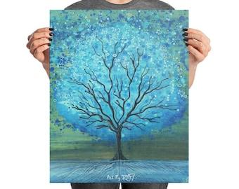 Magic Tree Photo paper poster Art By Rafi Perez