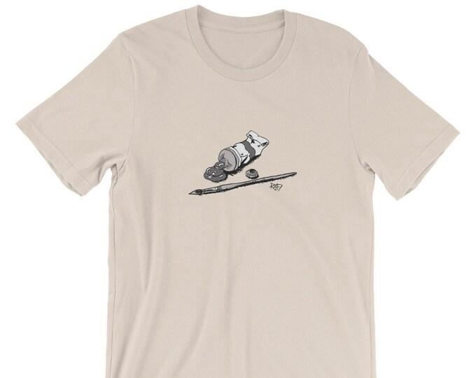 Paint And Paintbrush Short-Sleeve Unisex T-Shirt Design By Rafi Perez
