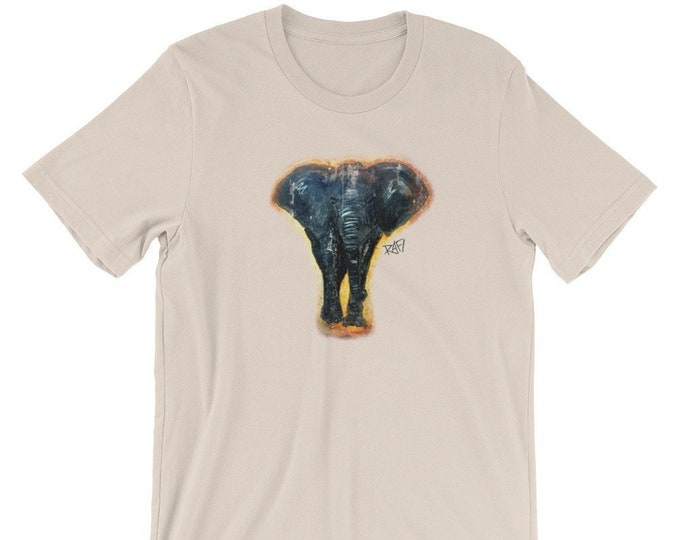 Lucky Elephant Short-Sleeve Unisex T-Shirt Design By Rafi Perez