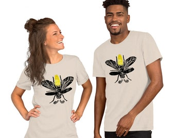 Lightning Bugs And Fireflies Short-Sleeve Unisex T-Shirt Color Design By Rafi Perez