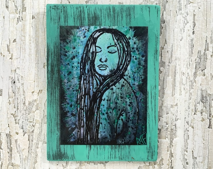 Who Am I? Rustic Wall Art By Artist Rafi Perez Original Texture Artist Enhanced Print On Wood