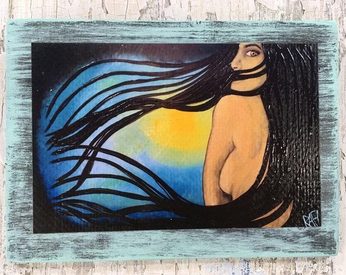 I Am Art Rustic Wall Art By Artist Rafi Perez Original Textured Artist Enhanced Print On Wood