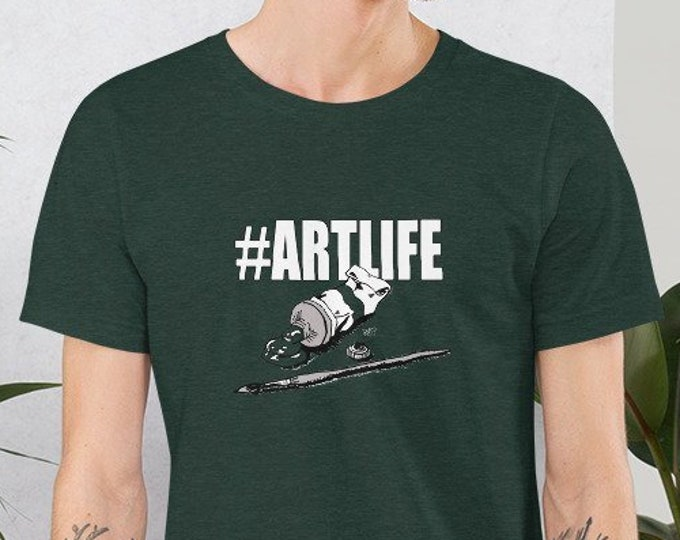 Hashtag ArtLife Artist Short-Sleeve Unisex T-Shirt Design By Rafi Perez