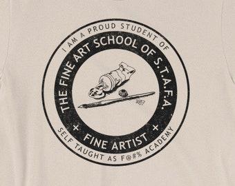 Artist Self Taught As F PG Version Short-Sleeve Unisex T-Shirt Design By Rafi Perez