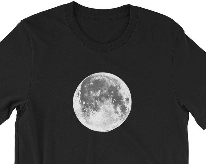 The Moon Sketch Short-Sleeve Unisex T-Shirt Design By Rafi Perez