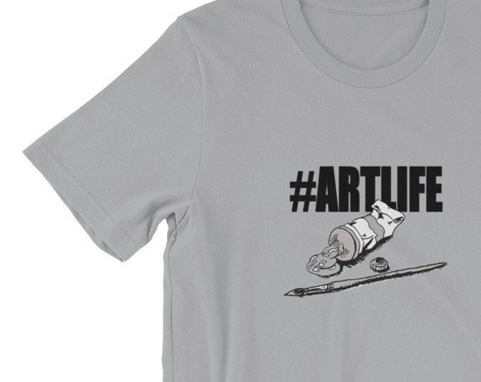 Hashtag Art Life Short-Sleeve Unisex T-Shirt Design By Rafi Perez