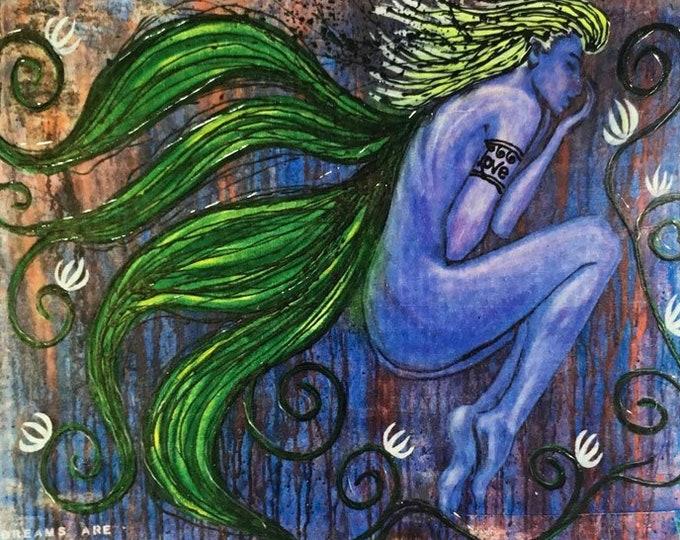 Dream Is Real Rustic Wall Art By Artist Rafi Perez Original Textured Artist Enhanced Print On Wood