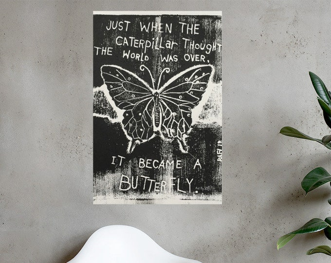 Become A Butterfly Photo Paper Art Poster Designed By Rafi Perez