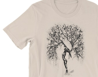 Nature Of Being Black Short-Sleeve Unisex T-Shirt Design By Rafi Perez