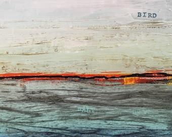 Description Of The Ocean No. 2 Original Painting by Artist Rafi Perez Mixed Medium on Canvas 12X16