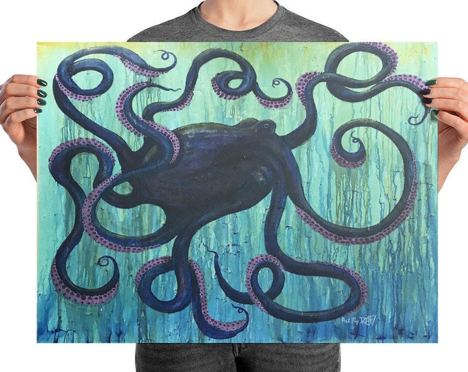 Octopus Photo Art Poster Design By Rafi Perez