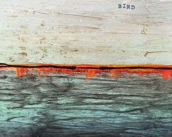Description Of The Ocean No. 1 Original Painting by Artist Rafi Perez Mixed Medium on Canvas 12X16