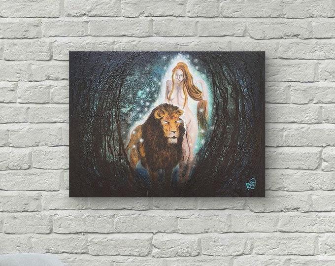 Untamed Spirit Original Painting by Artist Rafi Perez Mixed Medium on Canvas 18X24