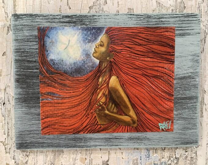 Let Yourself Take Flight Rustic Wall Art By Artist Rafi Perez Original Textured Artist Enhanced Print On Wood