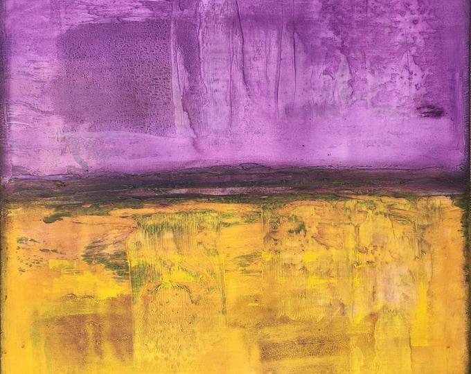 Majestic Horizon Original Painting By Artist Rafi Perez Mixed Medium on Canvas 30X30