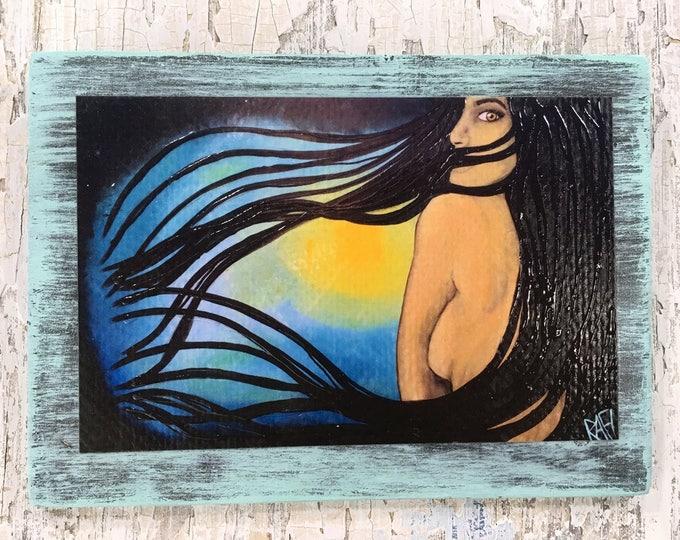 I Am Art by artist Rafi Perez Original Artist Enhanced Print On Wood