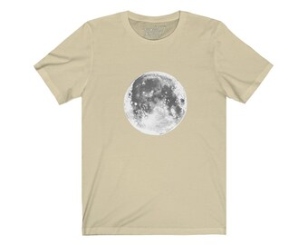 The Moon Unisex Jersey Short Sleeve Tee Design By Rafi