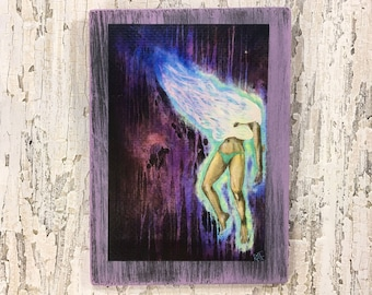 Dream Wall Art by artist Rafi Perez Original Artist Enhanced Print On Wood