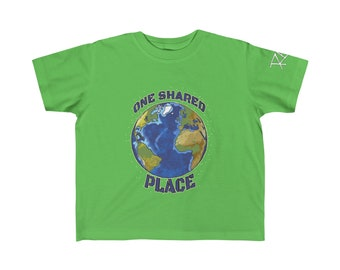 One Shared Place Planet Earth Kid's Fine Jersey Tee Design By Rafi Perez