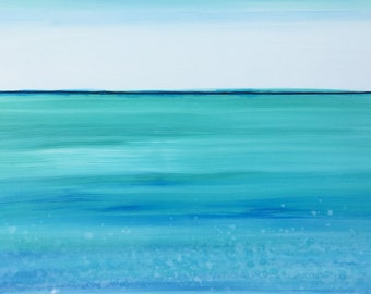 Sea Spray Original Painting by Artist Rafi Perez Mixed Medium on Canvas 24X36