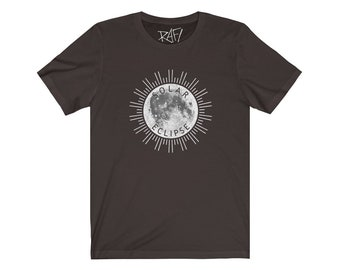 Solar Eclipse Unisex Jersey Short Sleeve Tee Design By Rafi