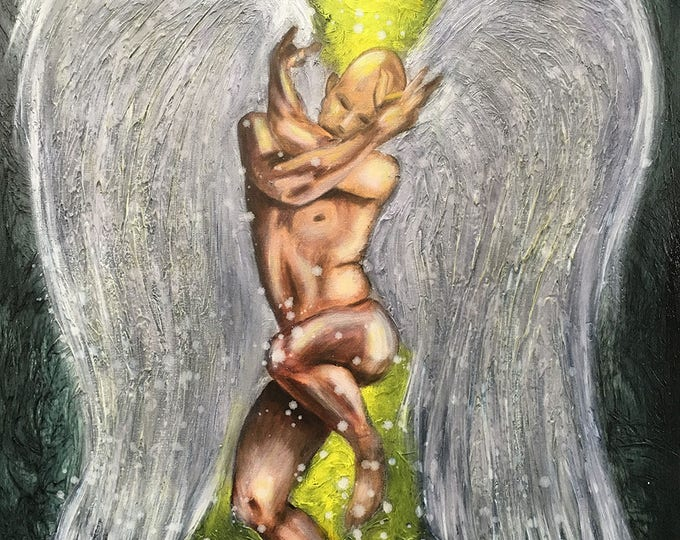 Angel Of Love Original Painting by Artist Rafi Perez Mixed Medium on Canvas 24X30