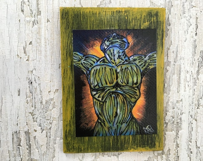 Finding Joy Wall Art by artist Rafi Perez Original Artist Enhanced Print On Wood