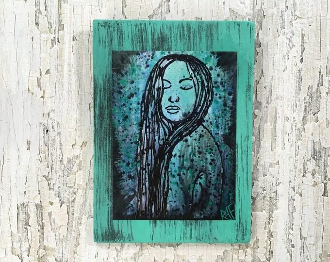 Who Am I? Art by artist Rafi Perez Original Artist Enhanced Print On Wood
