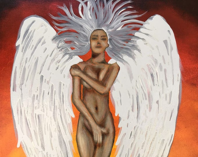 Rise and Rebirth Original Painting By Artist Rafi Perez Mixed Medium On Canvas 16X20