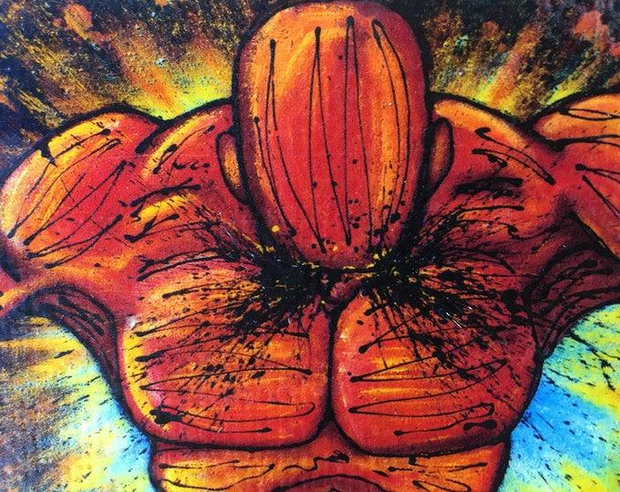 Break Through Rustic Wall Art By Artist Rafi Perez Original Textured Artist Enhanced Print On Wood
