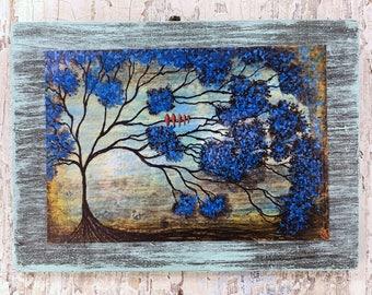 Family Tree Wall Art by artist Rafi Perez Original Artist Enhanced Print On Wood