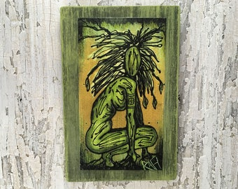 Earth Elemental Wall Art by artist Rafi Perez Original Artist Enhanced Print On Wood