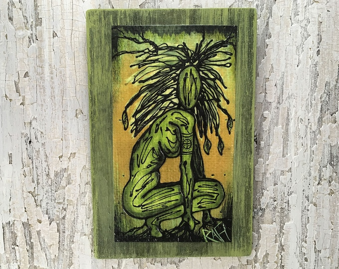Earth Elemental Rustic Wall Art By Artist Rafi Perez Original Textured Artist Enhanced Print On Wood