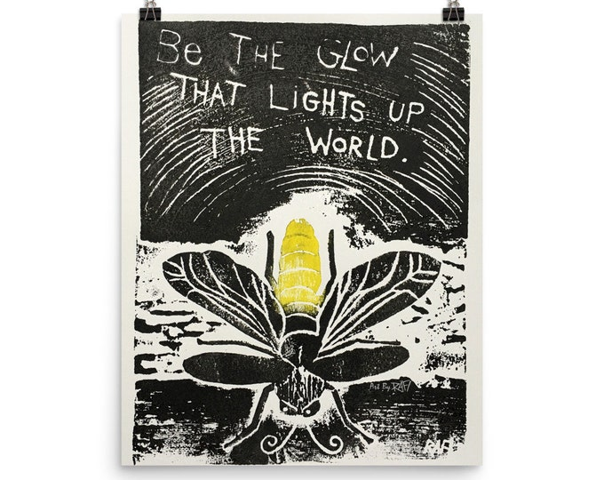 Be The Glow Photo Paper Art Poster Design By Rafi Perez