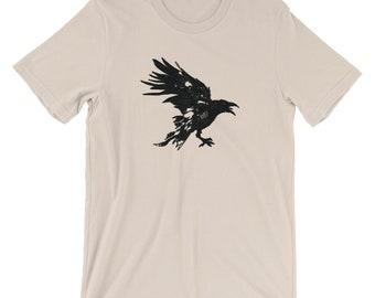 Nevermore Black Raven Short-Sleeve Unisex T-Shirt Design By Rafi Perez