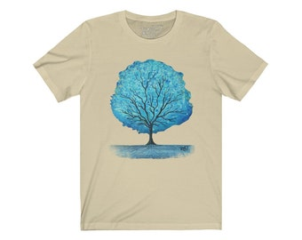Blue Magic Tree Unisex Jersey Short Sleeve Tee Design By Rafi