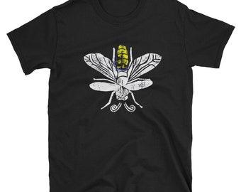 Lightning Bugs And Fireflies Short-Sleeve Unisex T-Shirt Design By Rafi Perez