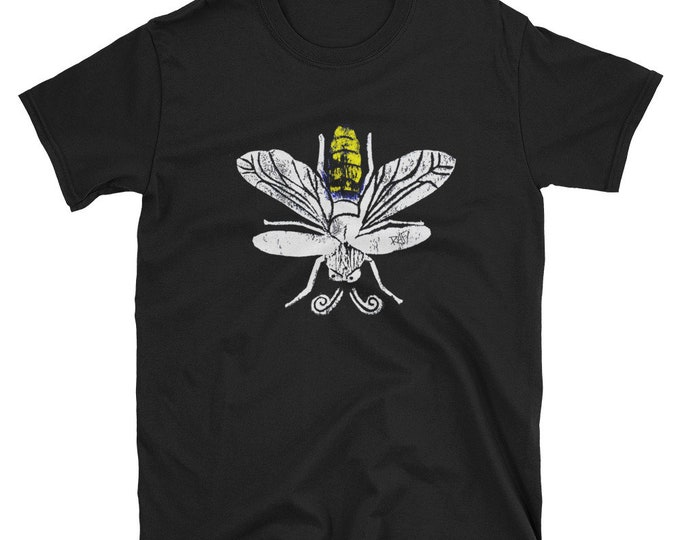 Lightning Bugs And Fireflies Short-Sleeve Unisex T-Shirt Design By Rafi Perez