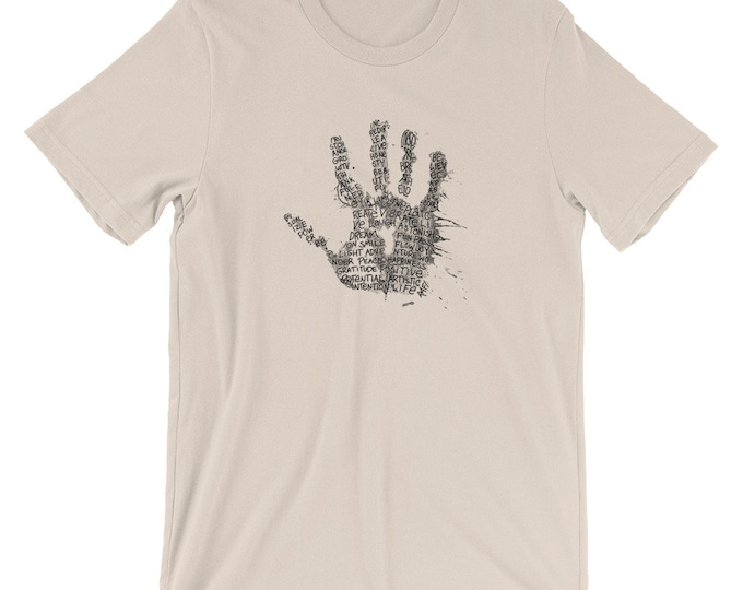 Artistic Hand Short-Sleeve Unisex T-Shirt Design By Rafi Perez